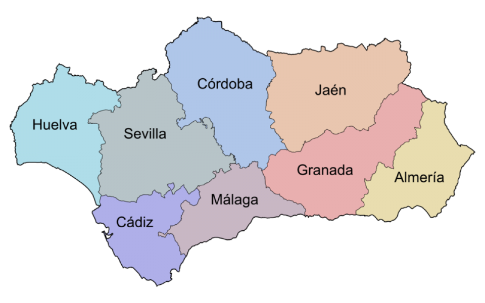 Map Of Spain Under Moorish Rule.About Andalucia Spain Spanish Culture Andalucia History
